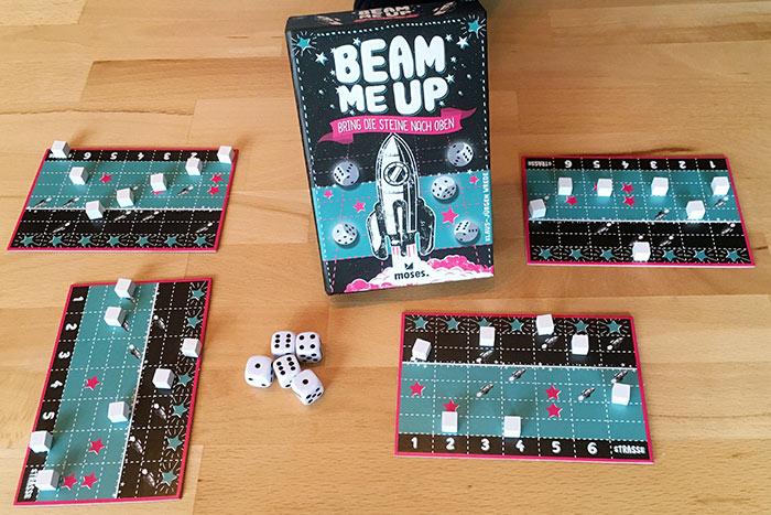 Beam me up: Spielaufbau