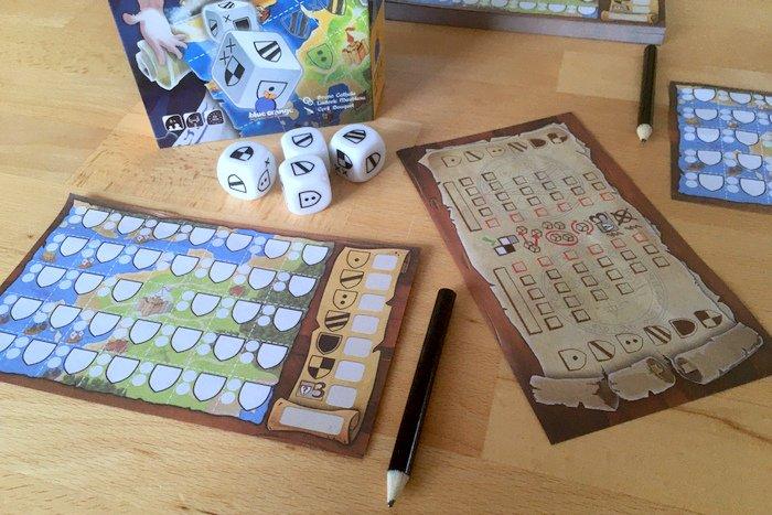 Kingdomino als Roll & Write Spiel